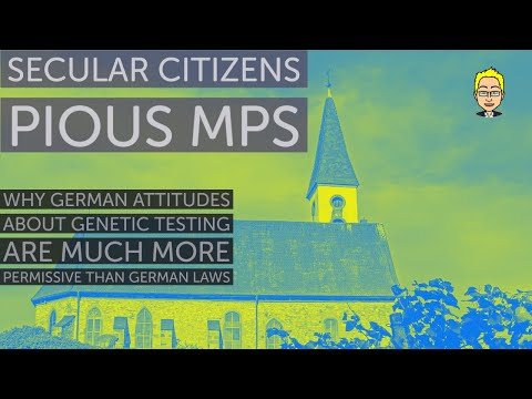 Secular citizens, pious MPs: Attitudes about genetic testing are more permissive than German laws
