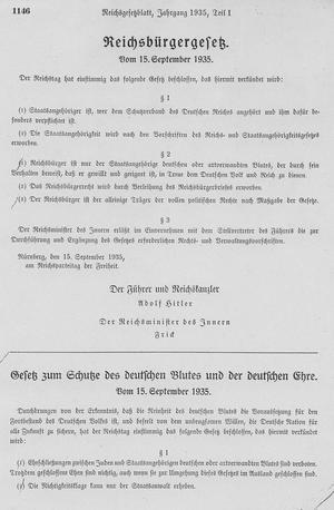 blutschutzgesetz v 15 9 1935 rgbl i 1146gesamt NPD: No Interracial Sex Please, Were German. Very much so