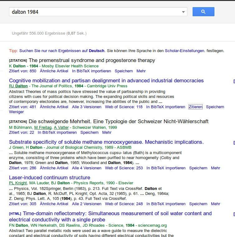 dalton 1984 Google Scholar Fail
