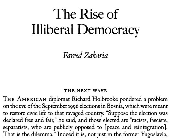 the rise of a liberal democracy essay