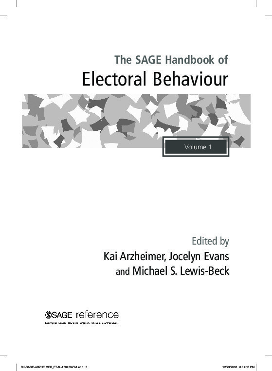The all new, all singing, all dancing Handbook of Electoral Behaviour 1