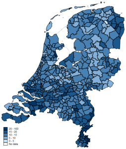 Elections in Europe: a map of PVV results in the Netherlands