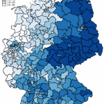 AfD results in 2017 federal election in Germany (map of districts)