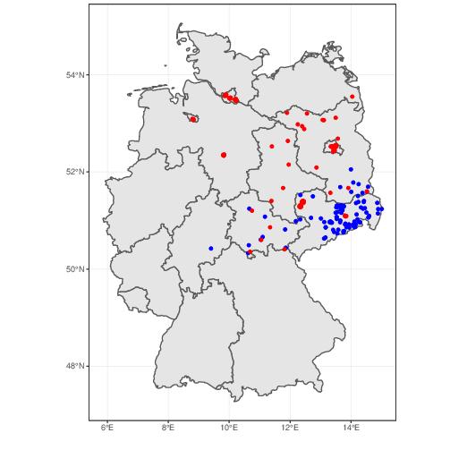 Lokale Hochburgen (Wahlbezirke) von AfD und Linkspartei, 2017