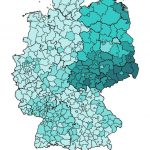 Regional support (district level) for the AfD in the EP 2019 election