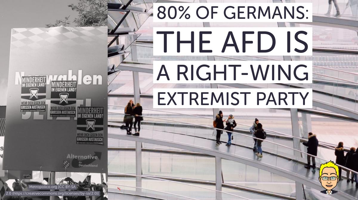 A vast majority of Germans sees the AfD as a right-wing extremist party